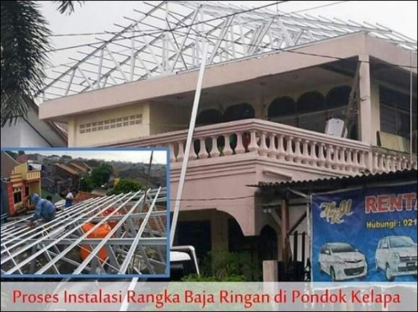renovasi rangka atap baja ringan